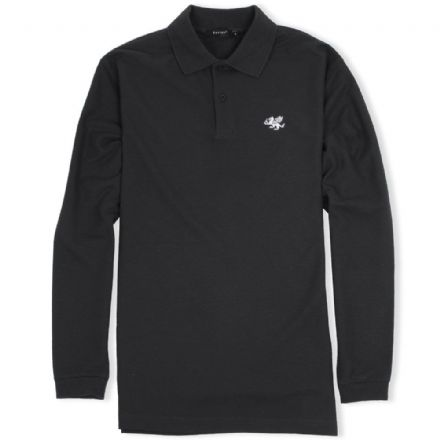 Senlak Long Sleeved Polo Shirt - Black